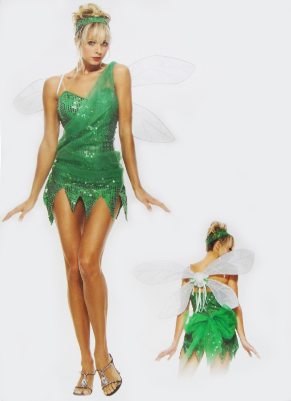 Womens plus size tinkerbell fairy costume