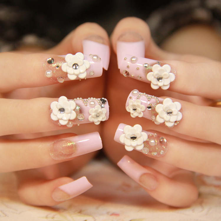 Acrylic Nails Square French Tip