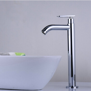single cold faucet bathroom basin faucet basin mixer bathroom sink faucet tall chrome brass faucet