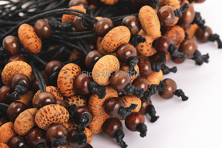 Free Shipping 100Pcs/Lot Handmade DIY Coffee Coco Wood Beads Pendants, Decoration(China (Mainland))