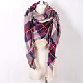 Brand Scarves Colorful Plaid Cashmere Woven Warm in Winter Pashmina Fashion blankets Scarf Shawls For Women