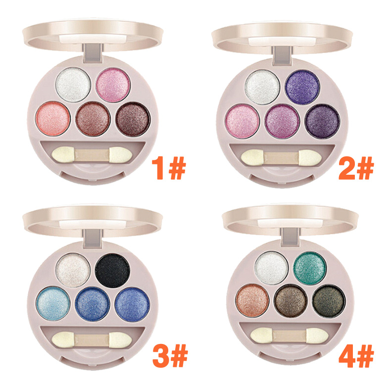 New Dual-use 5 Colors Eye Shadow Wet&Dry Eye Shadow for Lady 4 Style High Quality(China (Mainland))