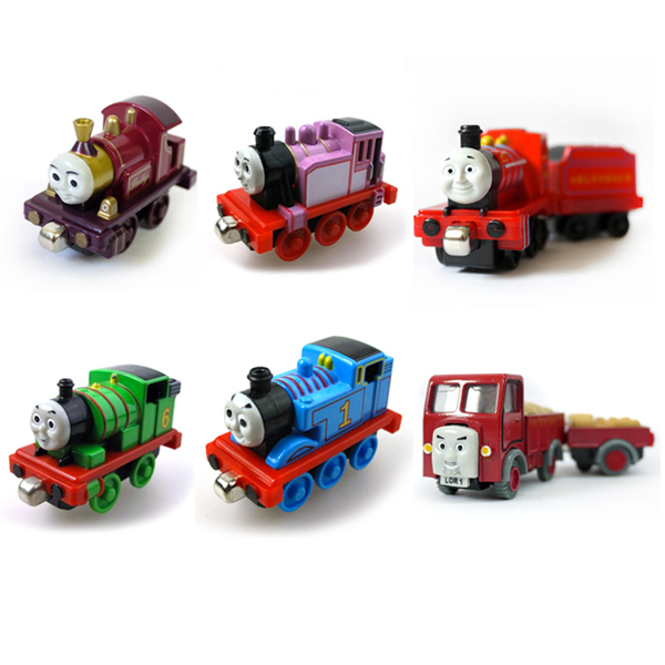 6Pcs THOMAS and friend lady Rosie Percy Mike Lorry magnetic alloy The Tank Engine lead metal track child toy train Combination(China (Mainland))