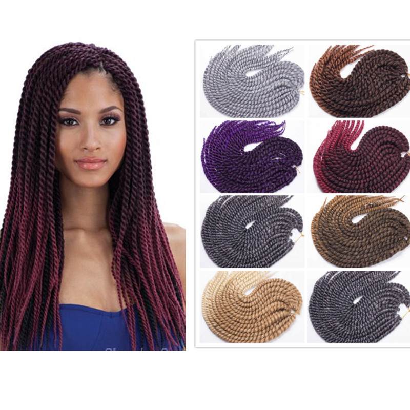 Crochet Hair Ombre : Twist Crochet Braid Hair Ombre Color Synthetic Crochet Braid Hair ...