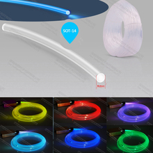 14mm side emitting optical fiber optic cable for indoor wall swimming pool light illumination decoration