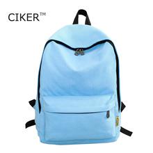 CIKER Марка unisex рюкзаки для девочек-подростков моды холст школьные сумки женщины ноутбук рюкзак случайные дорожные сумки mochila mujer