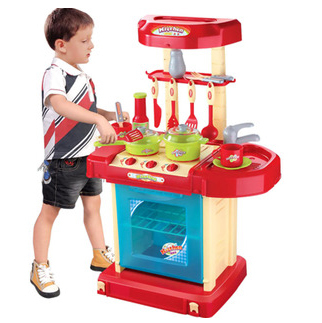 Kitchen toy set simulation Electronic Sounding Multi-functional 48*30*9.5 cm 1 pcs/set Boxed Play house Toy<br><br>Aliexpress