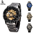 casual man clocks steel waterproof ikcolouring brand luxury men s watches automatic mechanical skeleton male wristwatch