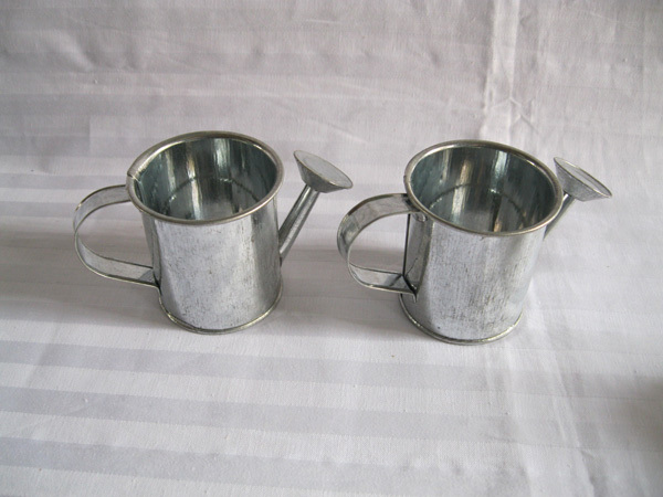 Silvery Mini Small Watering Cans Birthday Wedding Favors