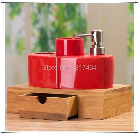 Retro produto conjunto de banheiro de quatro peças acessórios do banheiro caneca de dente de sabão sabão titular escova de dentes