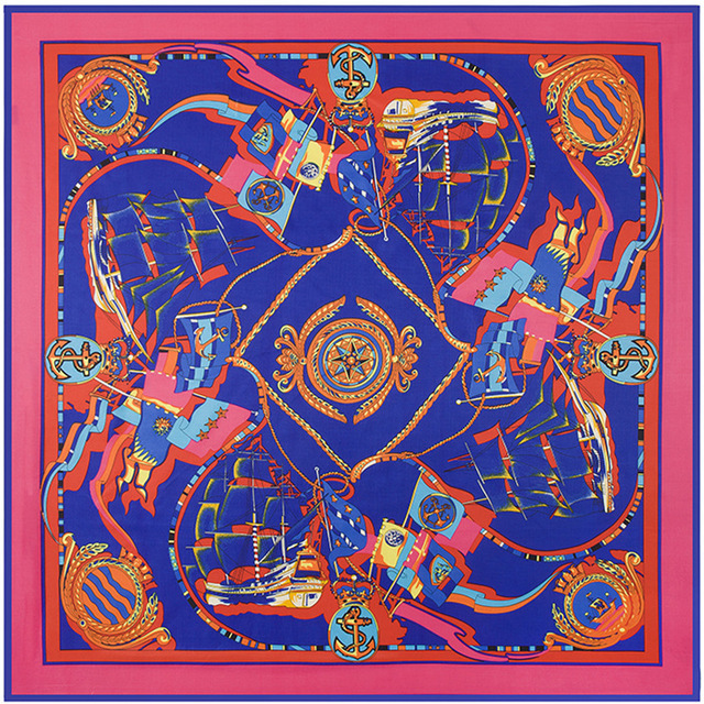 100 см * 100 см новое поступление 100% саржевые шелк цвет волновая картина гладко женщин саржевого шарф B132