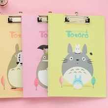 Hot Selling Wholesale new arrival fashon korea cute Japan Totoro Cat series Folder board with clipFile boardFiling Products su(China (Mainland))