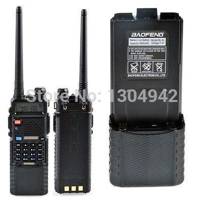 Baofeng уф-5r с 3800 mah аккумулятор двойной лента любительское радио укв увч 136 - 174/400 - 480 ( вверх до 520 мГц ) рация