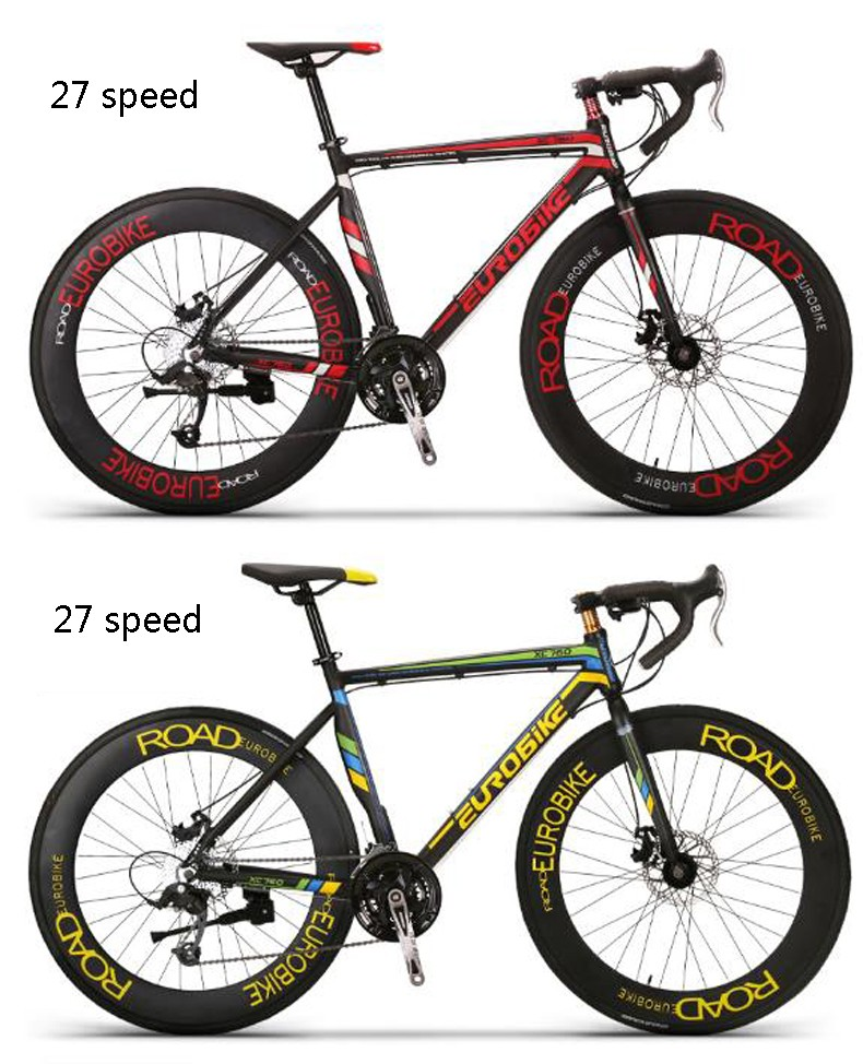 Buy 26 inch /21/27 speed bikes Double disc brake road car Sword circle K knife wheel bicycle contest highway car/tb80808 cheap