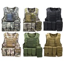 Outdoor Hunting Multicam Vests Men Fishing Accessories Camouflage Hiking Vest Amphibious Multi Pockets Military Tactical Airsoft