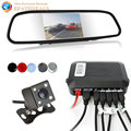 Dual Core CPU Car Rear view Mirror Monitor Auto Reverse Rearview Camera Video Parking Sensors Radar