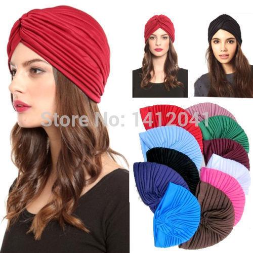 FD146 Pretty Cost-effective Unisex Indian Stretchable Turban Hat Headband Wrap Cap Headwrap Cloche(China (Mainland))