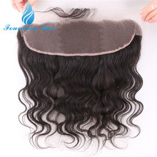 virgin Human hair Indian lace frontals closure 13x4 with free shipping 7A grade cheap ear to ear lace frontals with baby hair(China (Mainland))
