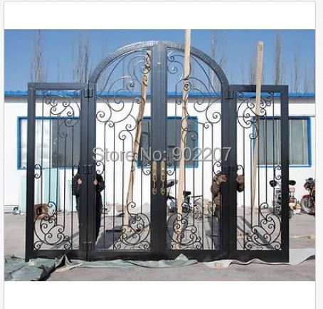 Custom design wrought iron entry door manufacturer model hench-ied11(China (Mainland))