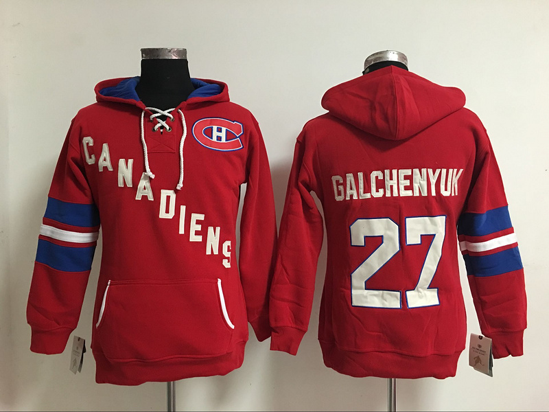 2016 New Montreal Canadiens Womens Sweaters #27 Alex Galchenyuk Red Ice Hockey Hoodies Jersey 5577<br><br>Aliexpress