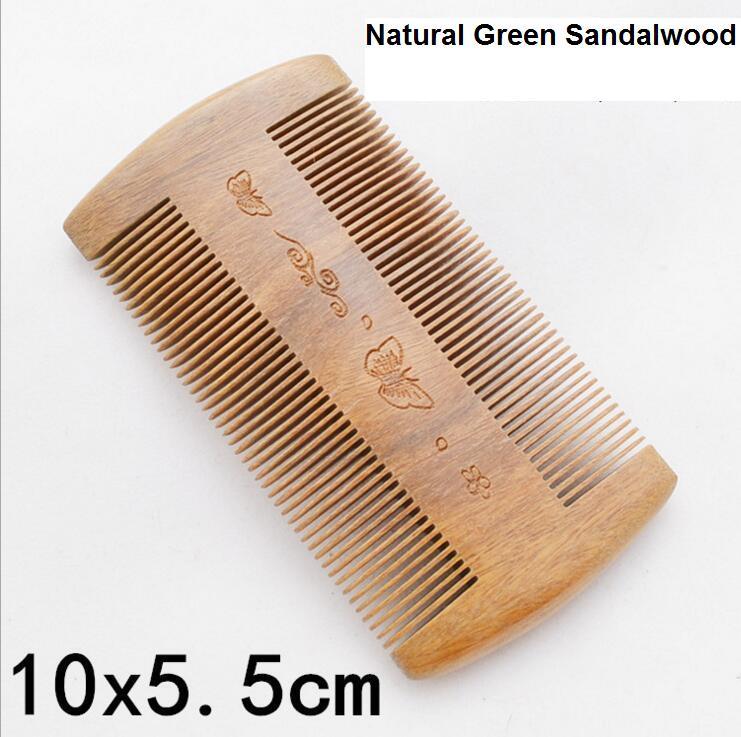 Brazil Natural Green sandalwood Comb Handmade Super Narrow Tooth No-static Massage Hair Brush Wooden Comb peine Hair Style Tool(China (Mainland))