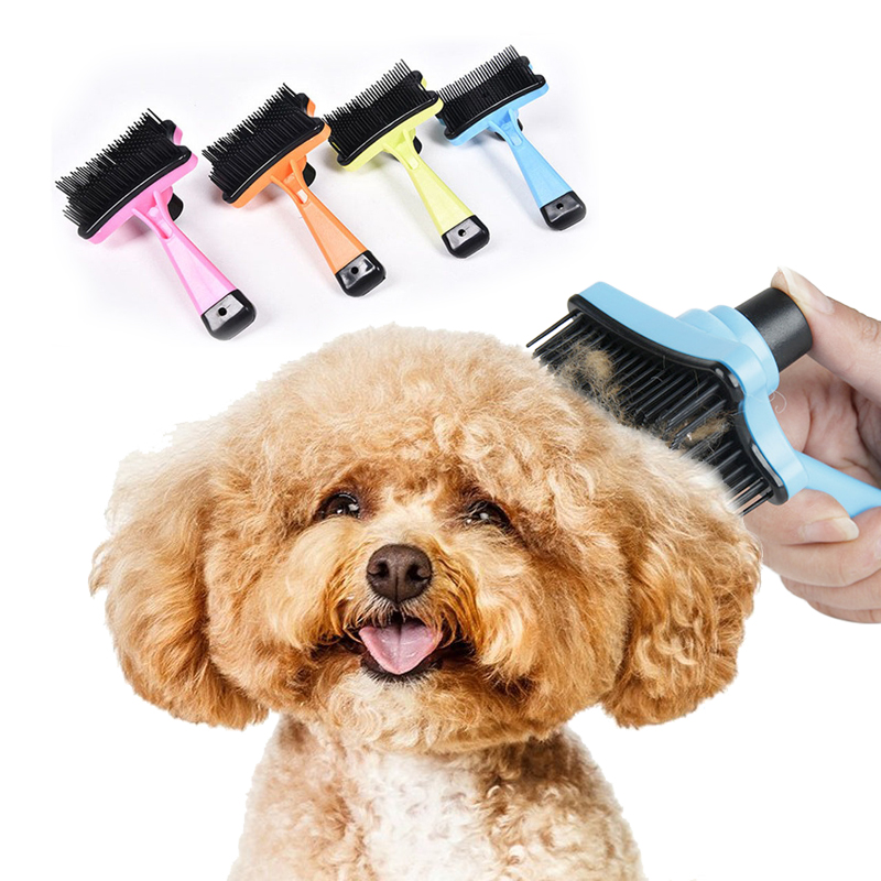 Pet Dog Cat Deshedding Brush Comb Pet Grooming Products Puppy Massage Mit Bathing Brush Cleaning Tool For Long Short Fur Hair 4(China (Mainland))