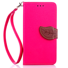 For Wiko Lenny 1 Flip Leather Case B152-A Leaf Style Wallet Case For Wiko Lenny 1 Shockproof Soft Phone Cover With Card Holder