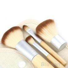 Hot selling Women 5pcs set Hot Selling New BAMBOO Makeup Brush Set 5pcs Make Up Brushes