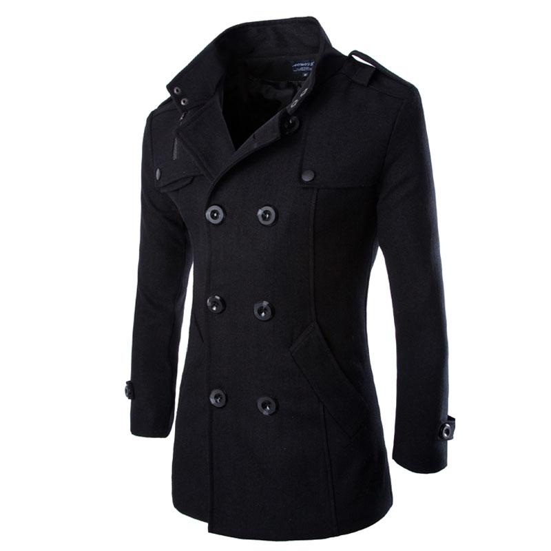 2013 new womens woolen warm winter long coat jacket trench