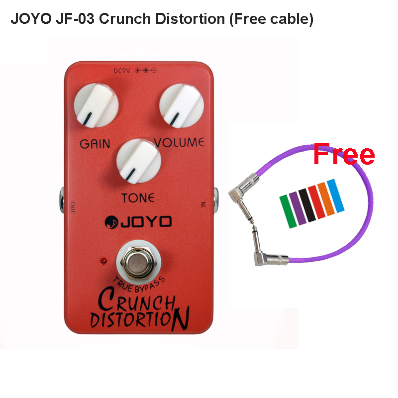 JOYO JF-03 Crunch Distortion Effective Pedal for Electric Guitar British Classic Rock Full-Stack Gain Settings and Tone + cable(China (Mainland))