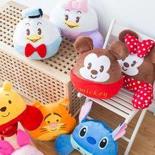 Super cute 1pc 35cm cartoon Donald Duck Stitch Tigger plush round pillow cushion stuffed toy children Valentine's Day gift