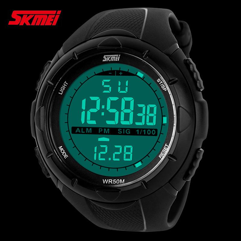 Skmei Brand Men LED Digital Watch Military Dive Swim Sports Watches Fashion Waterproof Outdoor Dress Wristwatches