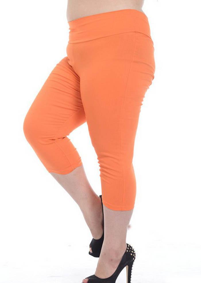 Plus Size Orange Leggings