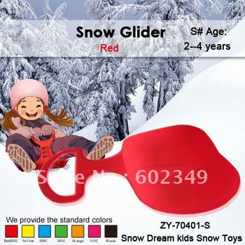 Free Shipping!!! Hot Sale, Children Plastic Outdoor Winter Red Snow Slege--S#