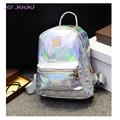 New Arrival Hologram Laser Backpack Girl School Bag Women Rainbow Colorful Metallic Silver Laser Holographic Backpack