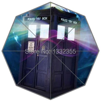 New Custom Umbrella Classic Doctor Who Police Box Theme Triple Folding Umbrella Gift Umbrella(China (Mainland))