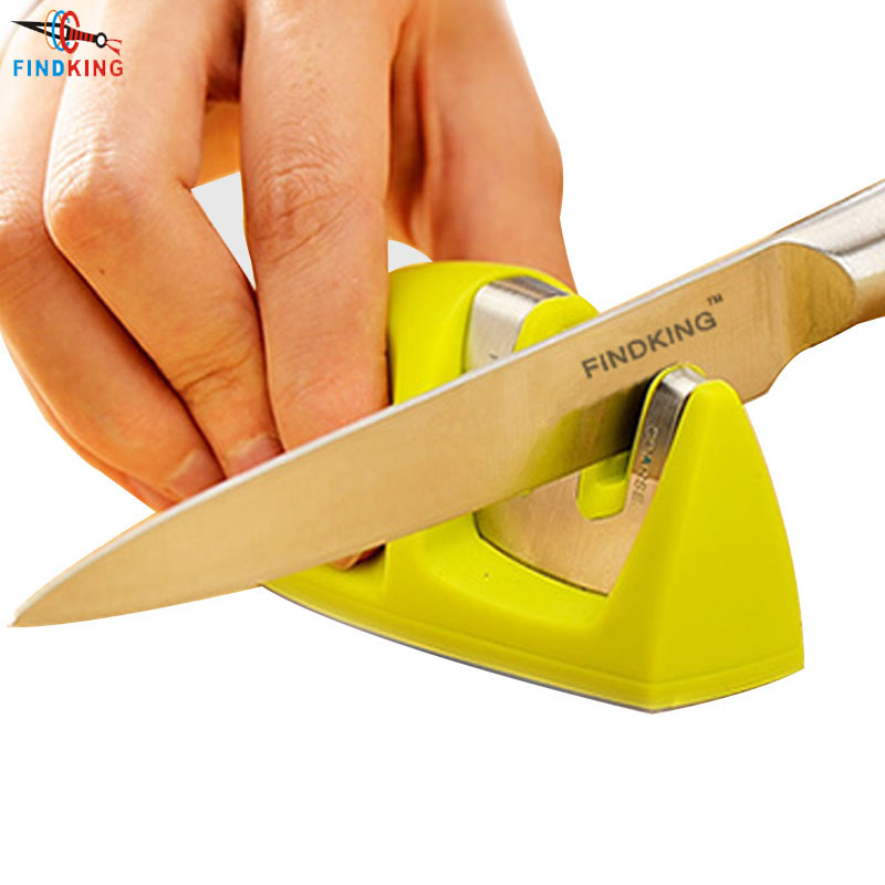 FINDKING brand Two Stages (Diamond & Ceramic) Kitchen Knife Sharpener ,Sharpening Stone Household Knife Sharpener Kitchen Tools(China (Mainland))