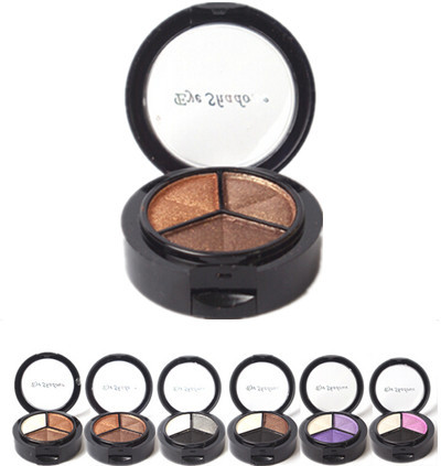 2015 New Smoky cosmetic set 3 colors professional natural matte eyeshadow makeup eye shadow palette Eye Shadow glitter(China (Mainland))