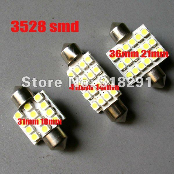 Ultra bright  12 SMD 3528 festoon led C5W 31mm 36 mm 39mm 41mm
