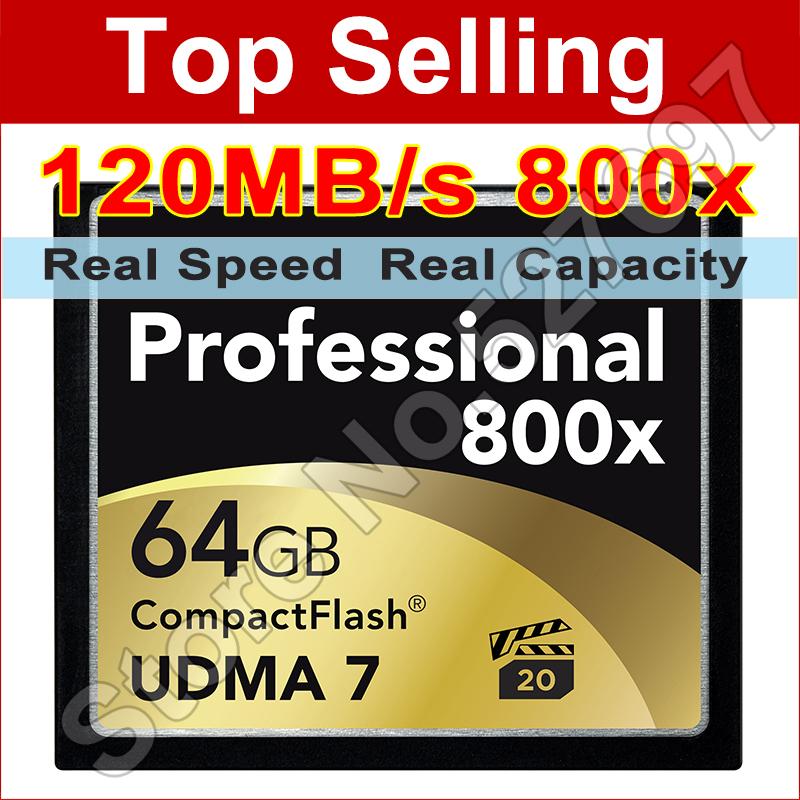 120MB/s Brand 800x 64GB CompactFlash Card UDMA VPG CF Card Memory Card For Digital SLR Camera 1080p Full HD 3D Video Camcorder(China (Mainland))