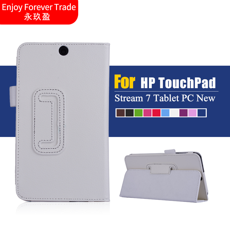 "High Quality Fashion Luxury Ultra Leather Stand Case Cover For 7"" HP Stream 7 Tablet PC New Free Shipping #LR17(China (Mainland))"