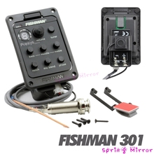 Fishman 301 4-Band EQ Equalizer Guitar Tuner Preamp Piezo Pickup Tone and Volume Control High Quality(China (Mainland))