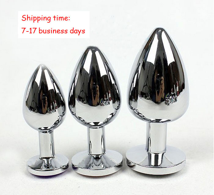 3PCS Small Middle Big Sizes Stainless Steel Metal Anal Plug With Diamonds Anal Dildo Sex Toys Butt Plug For Women(China (Mainland))
