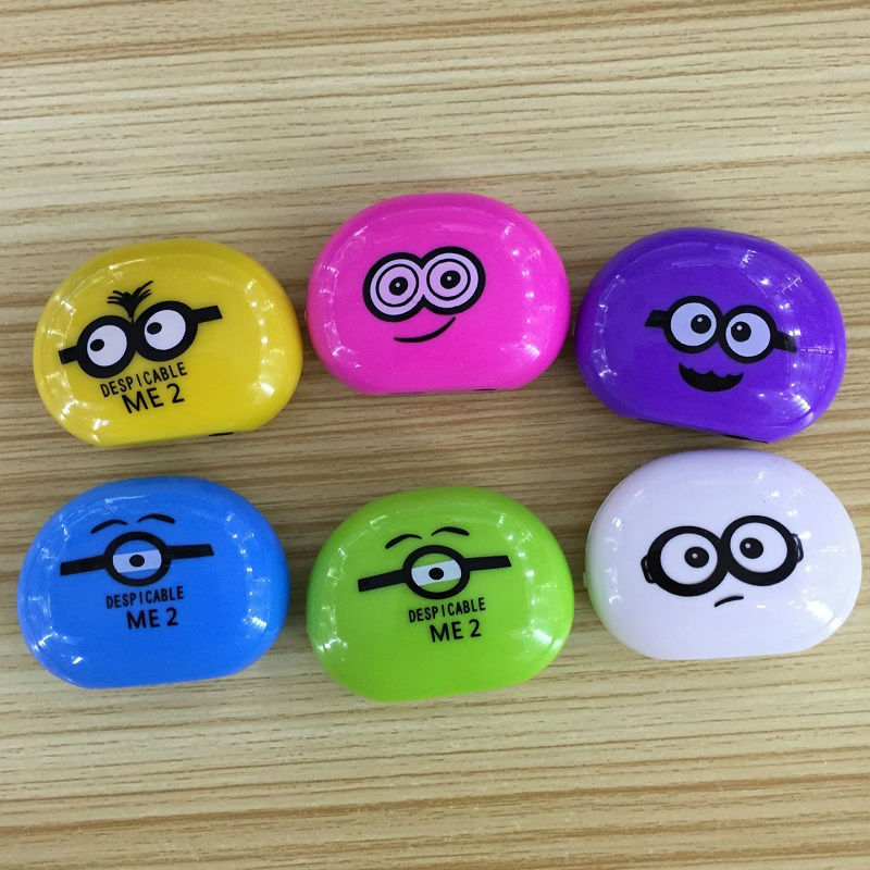 Glylezee MP3 Minions Face Expression Mini MP3 Music Player with TF Card Slot with 6 Colors(China (Mainland))