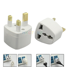 US/EU to UK AC Power Plug Travel Converter Adapte  0842