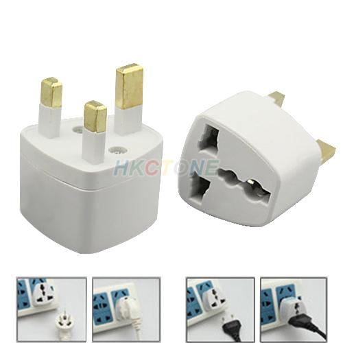 US/EU to UK AC Power Plug Travel Converter Adapte 0842(China (Mainland))