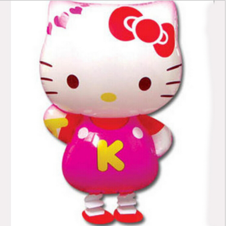Free Shipping Hello kitty walking pet balloons,Promotional Children toys wholesales(China (Mainland))