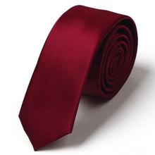 New Arrival Men Solid Tie Business Fashion Necktie Formal Classic Wedding Neck Tie Red bridegroom Tie