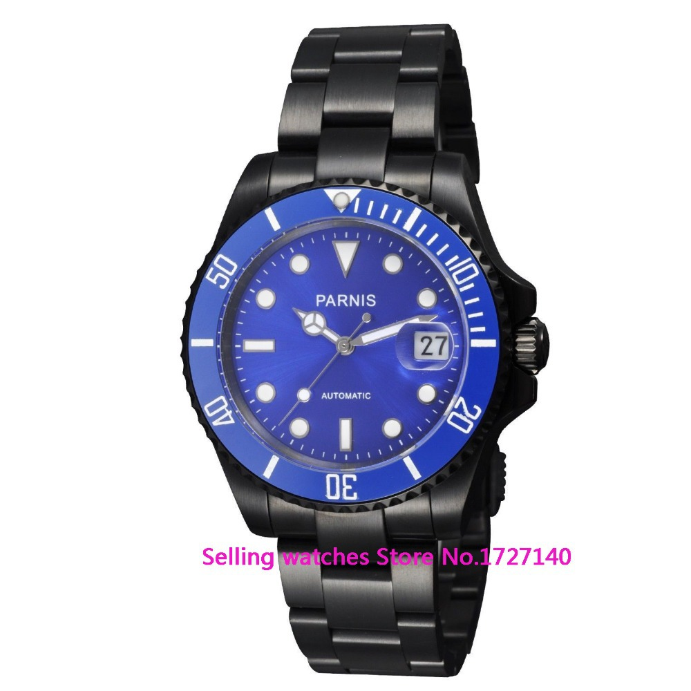 40mm Parnis Men Sub Sapphire Crystal Miyota Automatic PVD Watch<br><br>Aliexpress