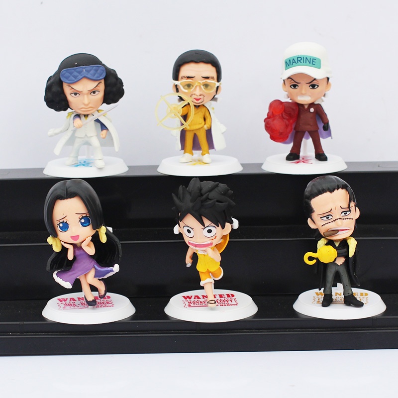 One Piece Luffy Navy Toy Figure Monkey D Luffy PVC Figures Collectable Toys 6pcs/set 5Sets/lot 6~7CM Free Shipping<br><br>Aliexpress